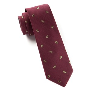 subtle paisley burgundy ties