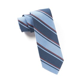 Light Blue Academy Stripe ties