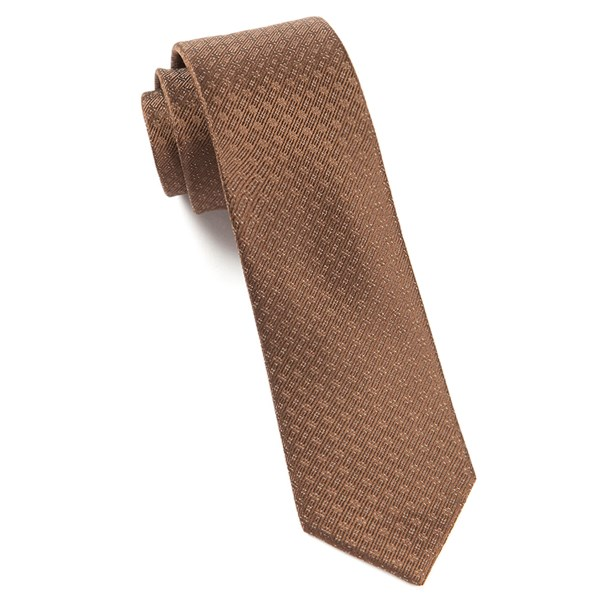 Chocolate Brown Speckled Tie