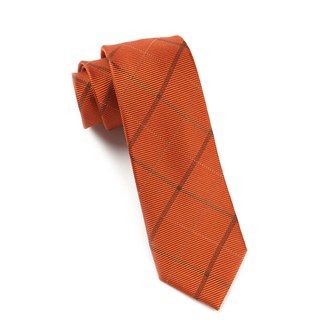 Sheridan Plaid Orange Tie