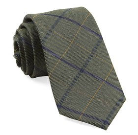 Army Green Sheridan Plaid ties