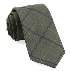 sheridan plaid army green ties