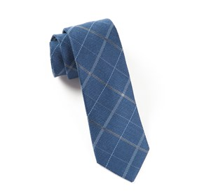 Navy Sheridan Plaid ties