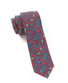 Ties - Racketeer Paisley - Red