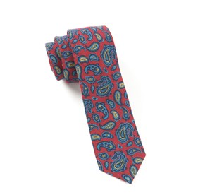 Red Racketeer Paisley ties