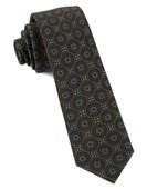 Ties - Era Medallions - Chocolate Brown