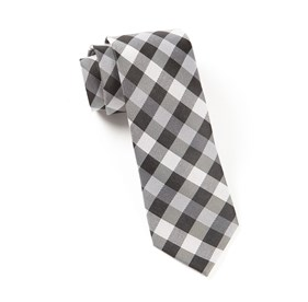 Gingham Fusion Black Ties