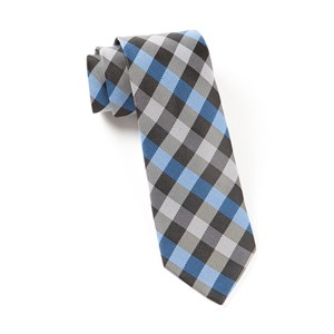 gingham fusion blue ties