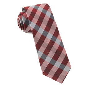 Red Gingham Fusion ties