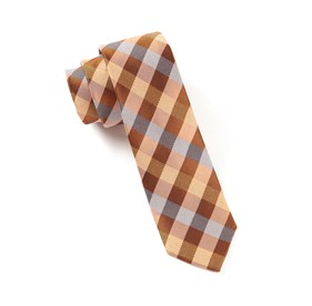 Burnt Orange Gingham Fusion ties