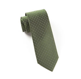 Dark Clover Green Wacker Drive Checks ties