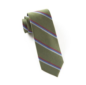 Olive Roadway Stripe ties
