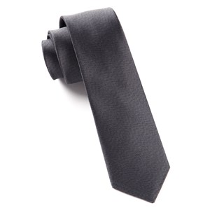 melange twist solid charcoal ties