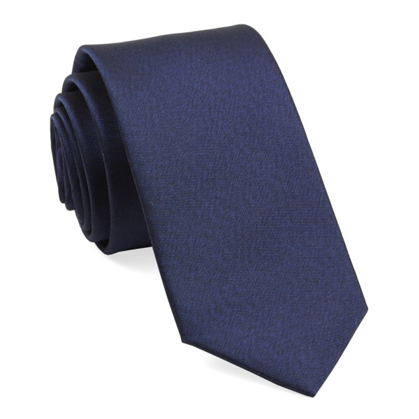 Navy Melange Twist Solid Tie