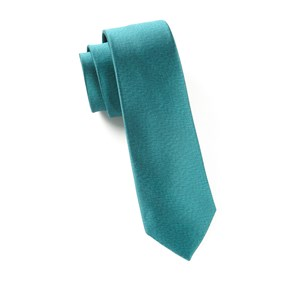 melange twist solid green teal ties