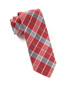 Ties - Catalyst Plaid - Red