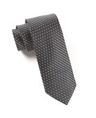 Ties - Mingle Dot - Charcoal