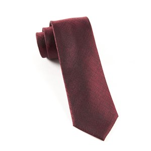 debonair solid deep burgundy ties
