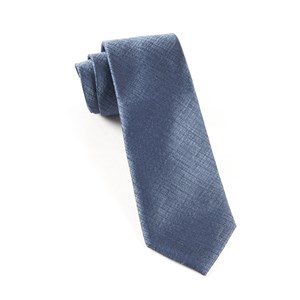 debonair solid slate blue ties