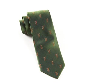 Dark Clover Green Alpine Skis ties