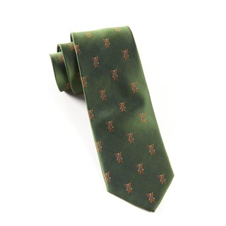 Alpine Skis Dark Clover Green Tie