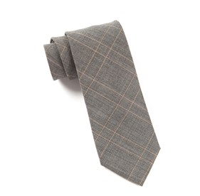 Silver Senior Plaid ties