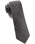 "Grenafaux Dots - Bullet Grey - 2.5"" x 58"" - Ties"