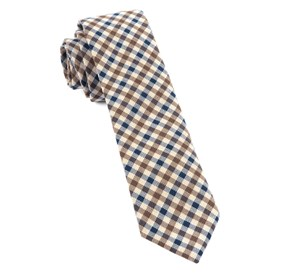 Navy Davenport Plaid ties