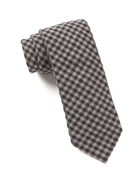 Ties - Metric Plaid - Charcoal