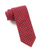 Ties - Metric Plaid - Red