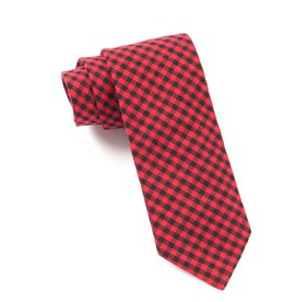 Red Metric Plaid ties