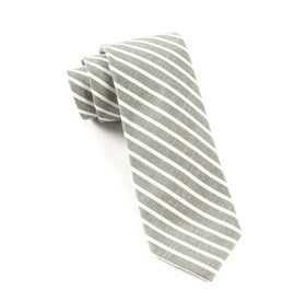 Walkover Stripe Army Green Ties