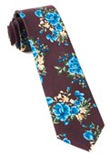 Ties - Hinterland Floral - Deep Burgundy