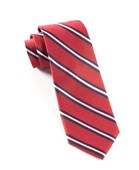 Ties - Pilot Stripe - Red
