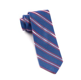 Blue Pilot Stripe ties