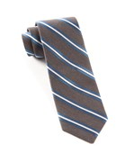 Ties - Pilot Stripe - Charcoal