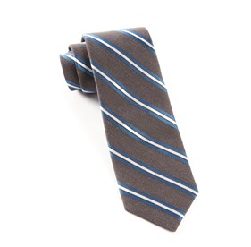 Charcoal Pilot Stripe ties