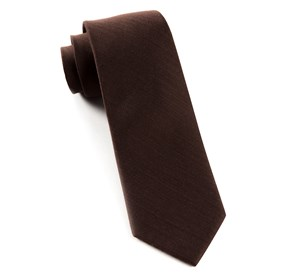 Chocolate Astute Solid ties