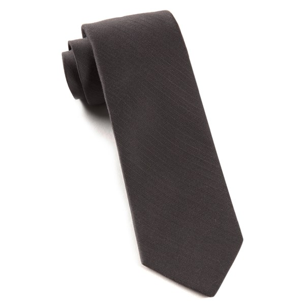 Charcoal Astute Solid Tie