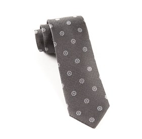 Charcoal Botanic Floral ties