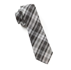 Narrative Plaid Black Ties