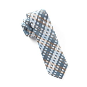 narrative plaid light blue ties