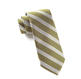 Dark Woodbine Studio Stripe ties