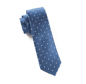 Blue Vinyl Dots ties