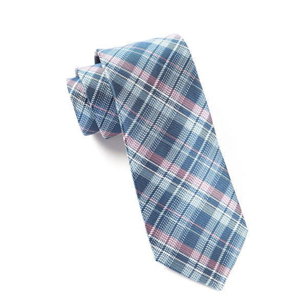 Blue Legacy Plaid Tie
