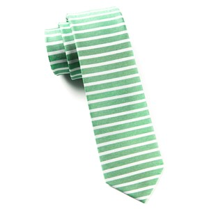 unity stripe apple green ties