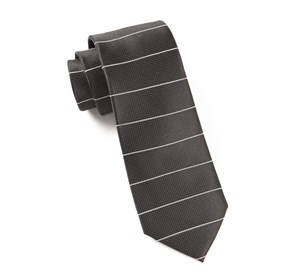 Black Institute Stripe ties