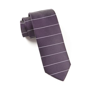 Institute Stripe Eggplant Ties
