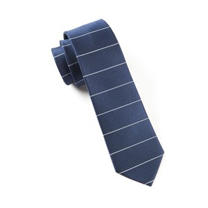 institute stripe navy ties