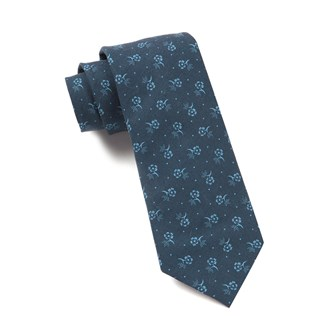bluegrass floral navy ties